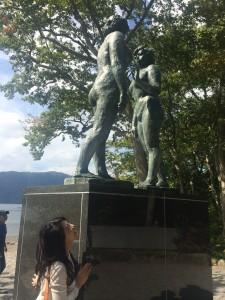 十和田湖1 乙女の像(高村幸太郎)